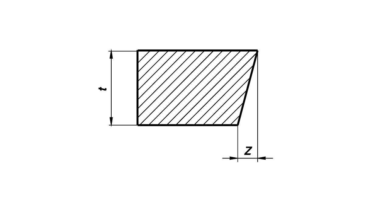 Фигура 1 - Измерване на отклонението от перпендикулярност