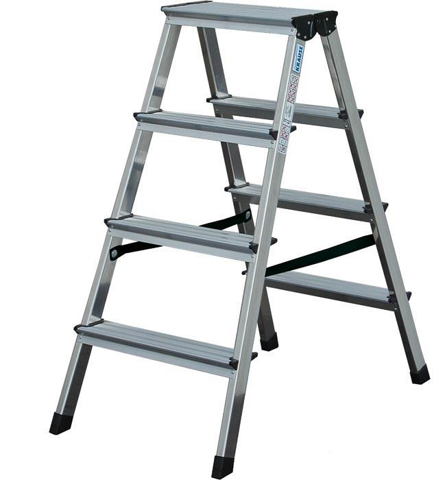 Стълба двустранна алуминиева